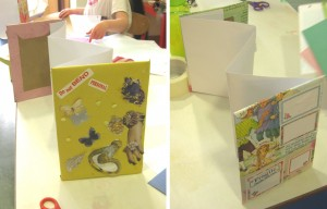 making our concertina books at our craft camps