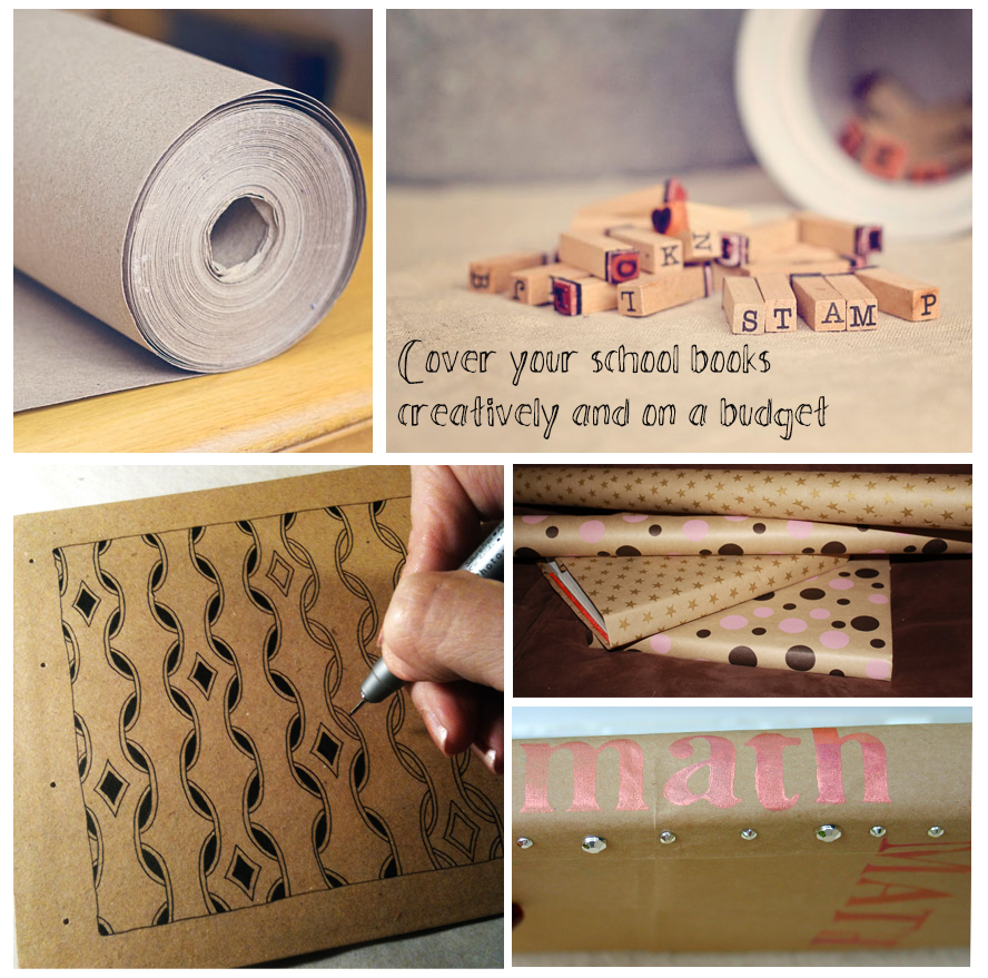 cover your school books creatively and on a budget