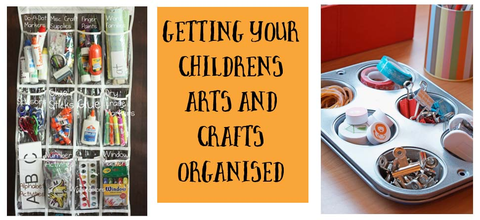 getting your childs arts and crafts space and upplies organised teh craft corner
