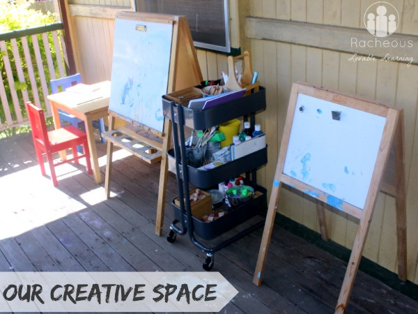 outdoor creative art space for children
