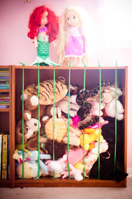 storage cage for your childs tessy bears and dolls diy tutorial