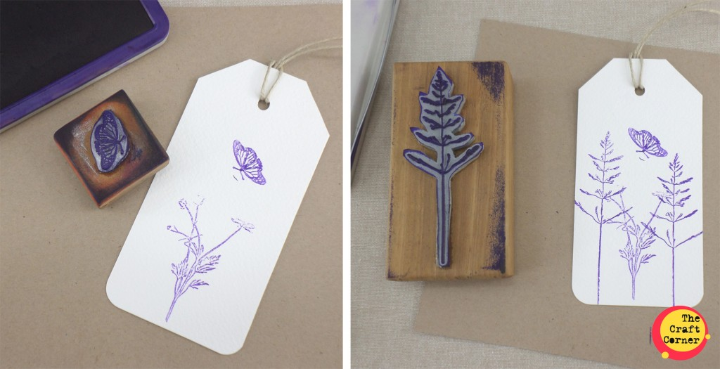 build up your base layer of stamping I add different plants and tree stamps and a butterfly