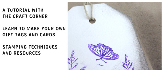 learn to make your own stamped gift tags with the craft corner