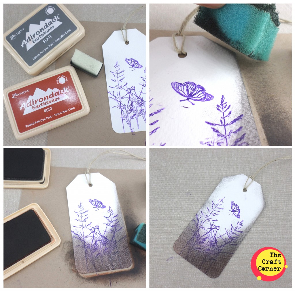 use adirondack ink pads making gift tags with the craft corner