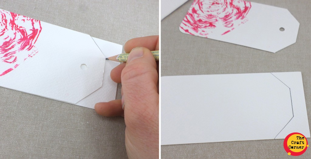 trace around your craft corner template and cut out