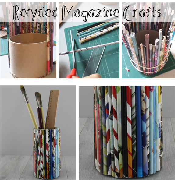 finished project recycled magazine crafts with the craft corner pencil holder