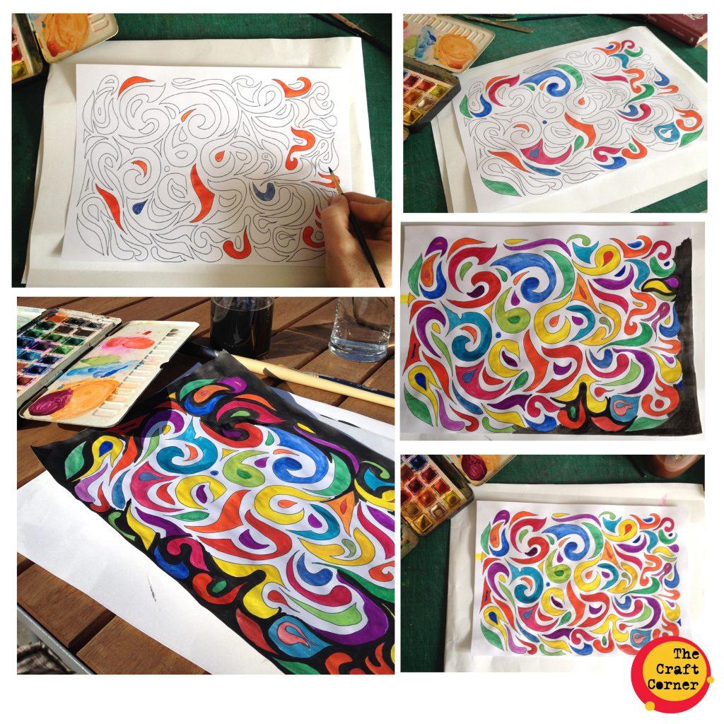 mindfulness colouring sheet