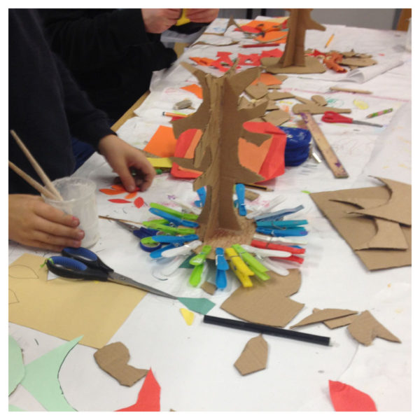 making 3D art projects at craft camp