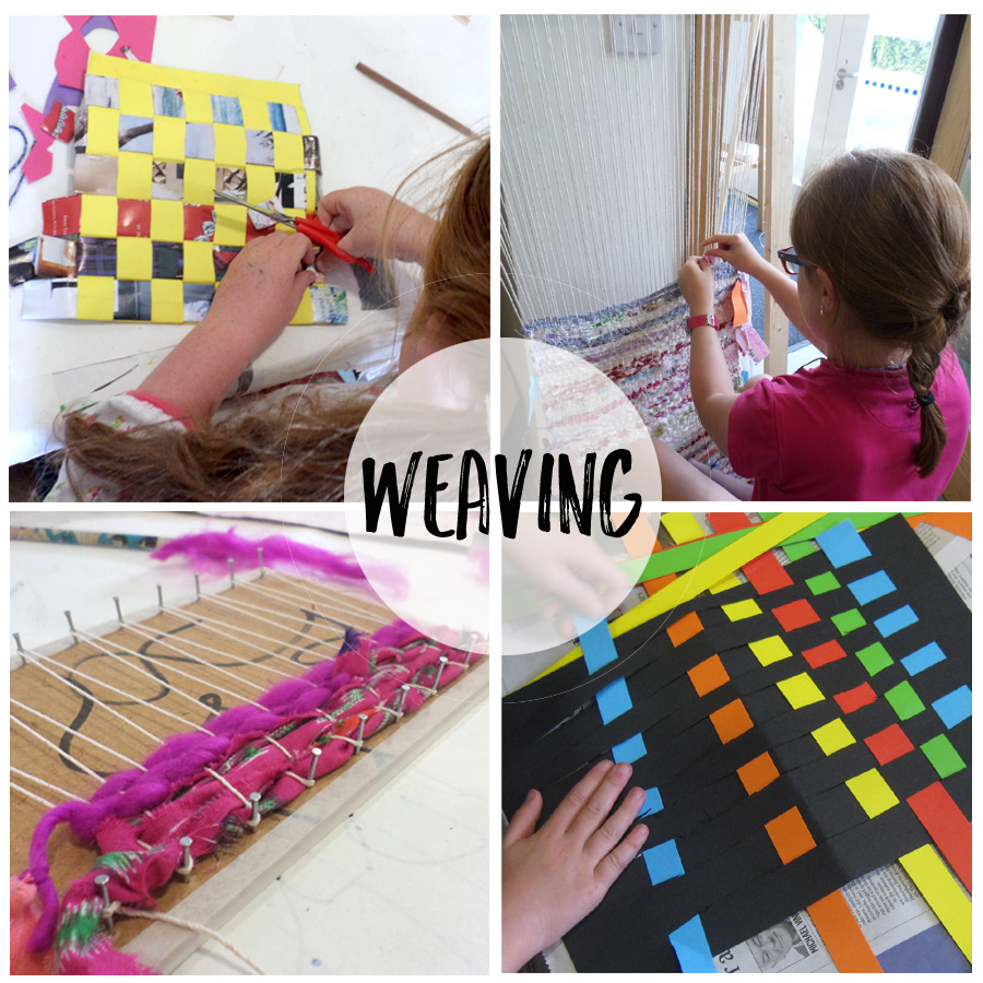 weaving in art camp in Naas summer camps for children