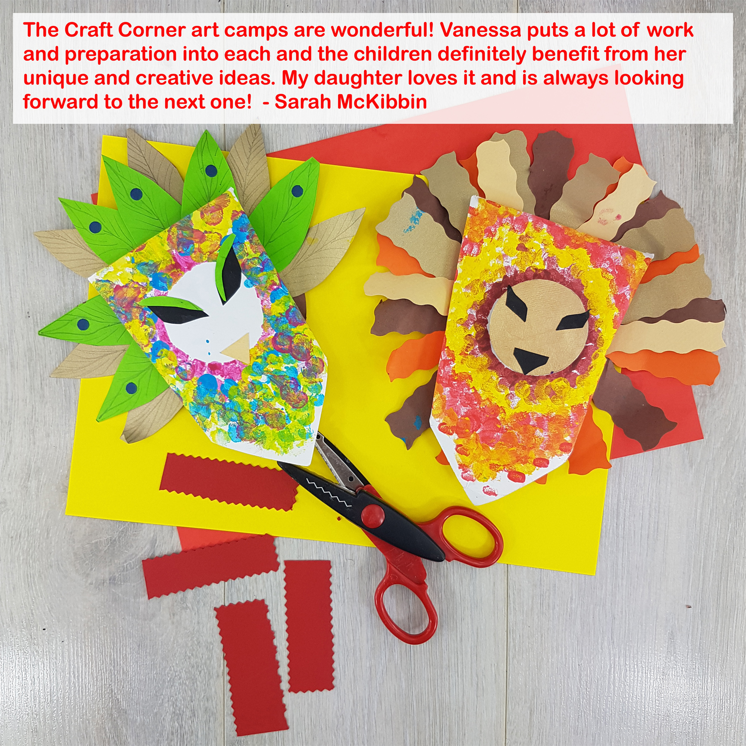 the craft corner summer arts and craft camps in St Davids School Naas