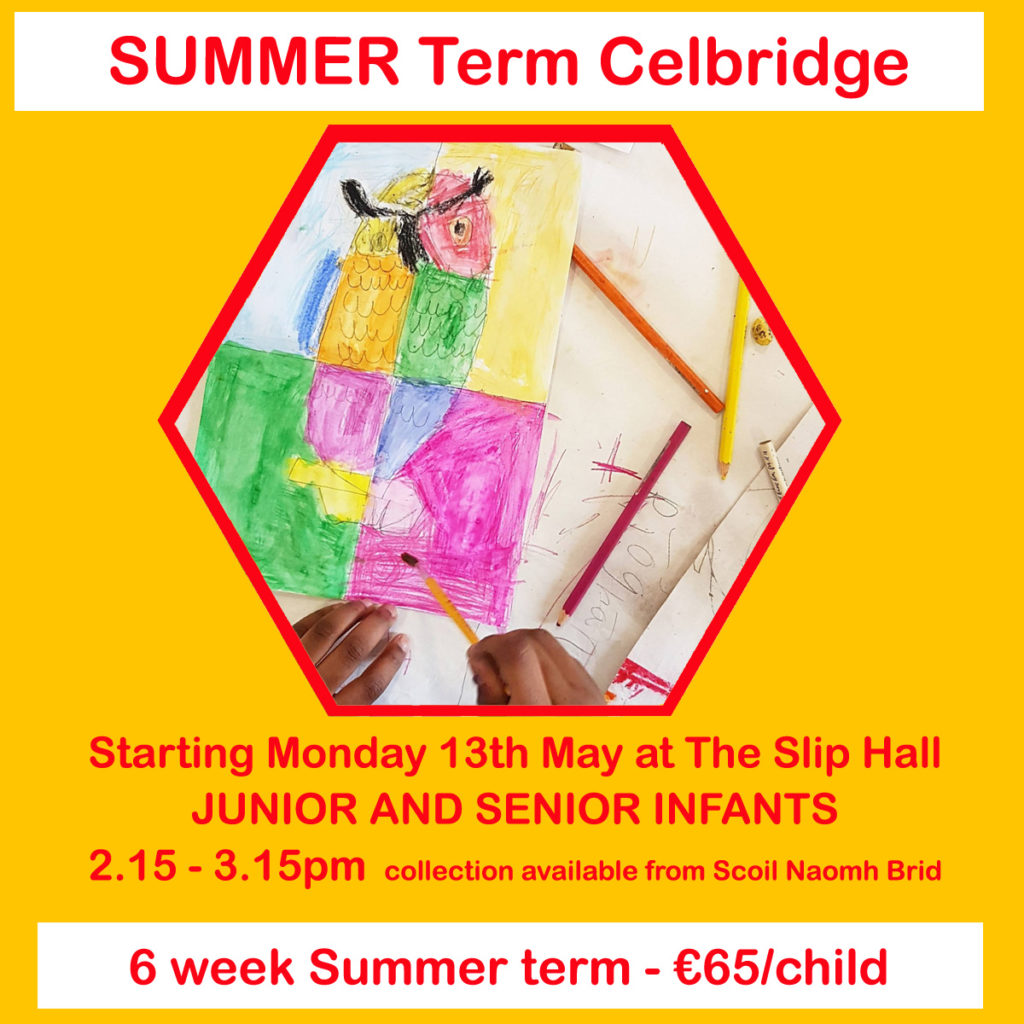 JUNIOR summer term arts classes celbridge