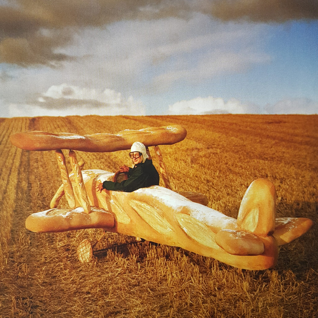 Tim walker photograph of Rollo Hesketh-Harvey and his Baguetter Biplane Vogue Magazine 2009