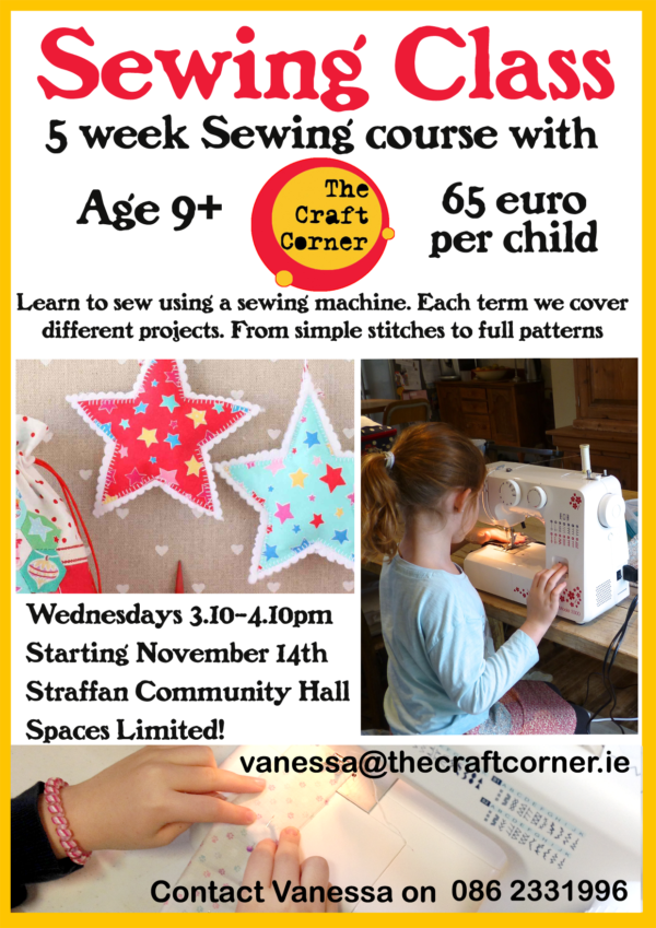 christmas 2018 sewing class for children in straffan