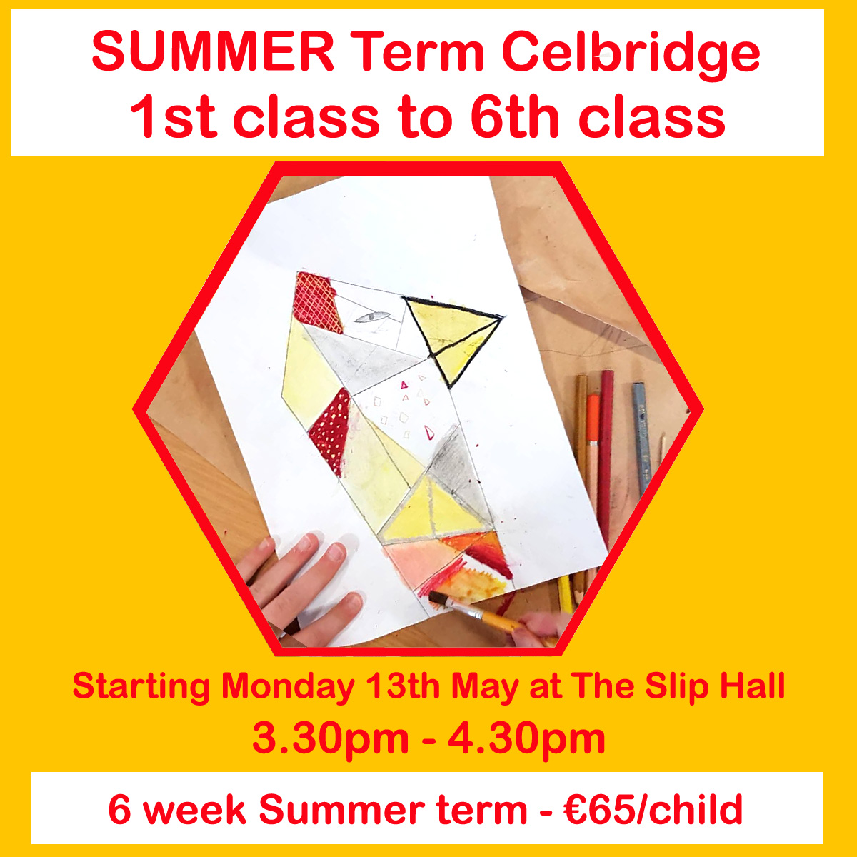 summer term of art classes for 1st class upwards 2019