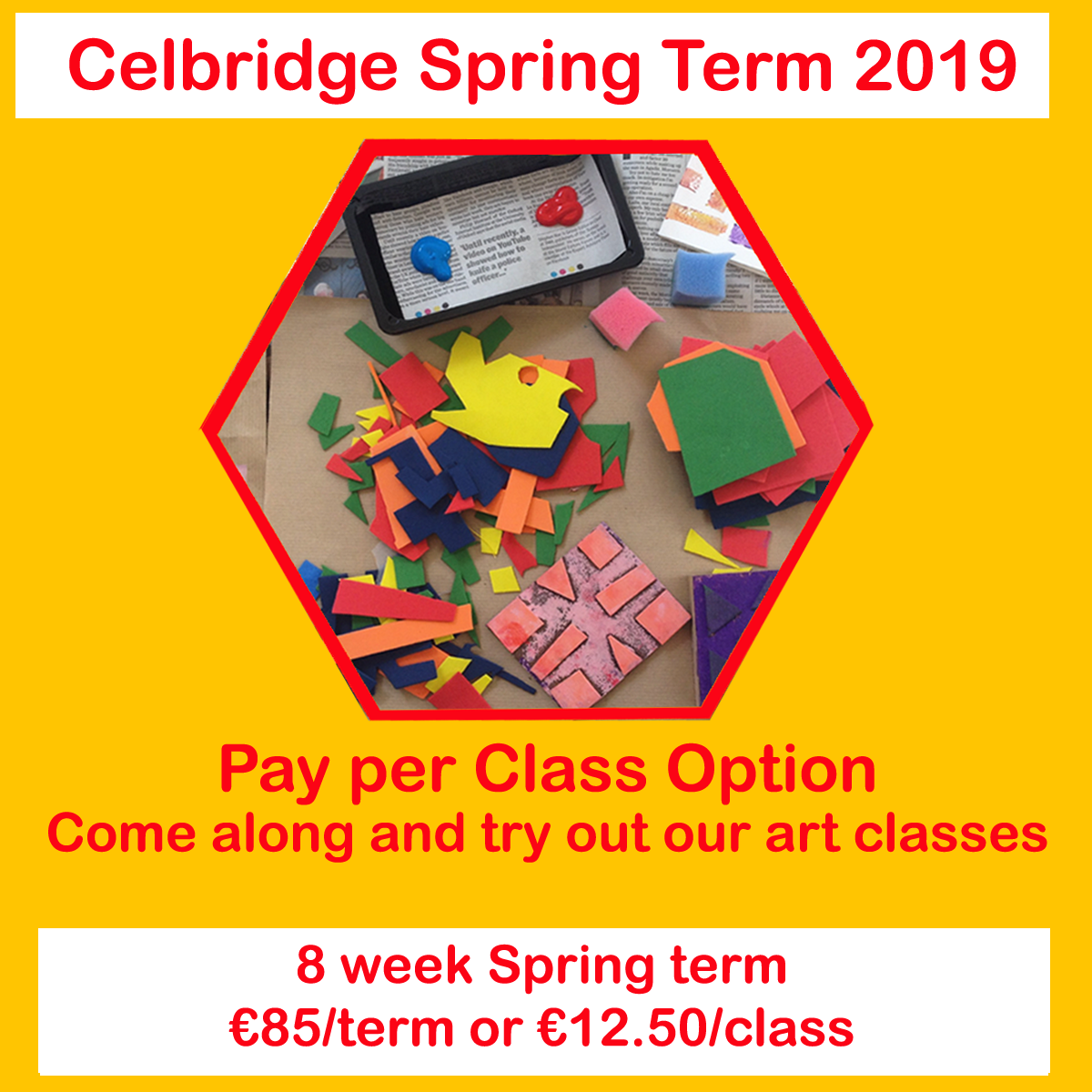 pay per class option in celbridge art classes for kids