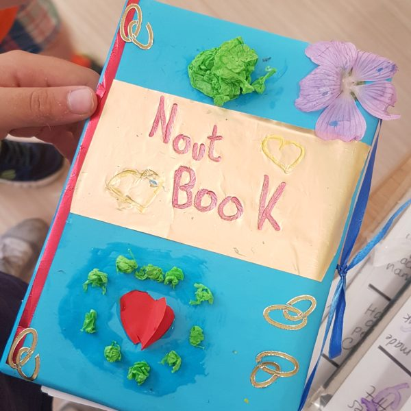 flower themed notebook, creative rainy day projects