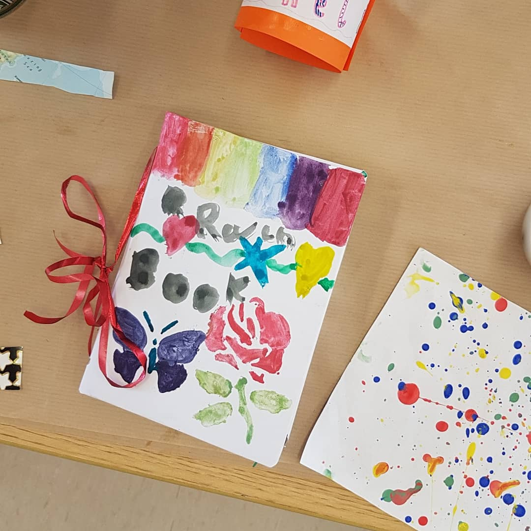 art notebooks made by our amazing young artists