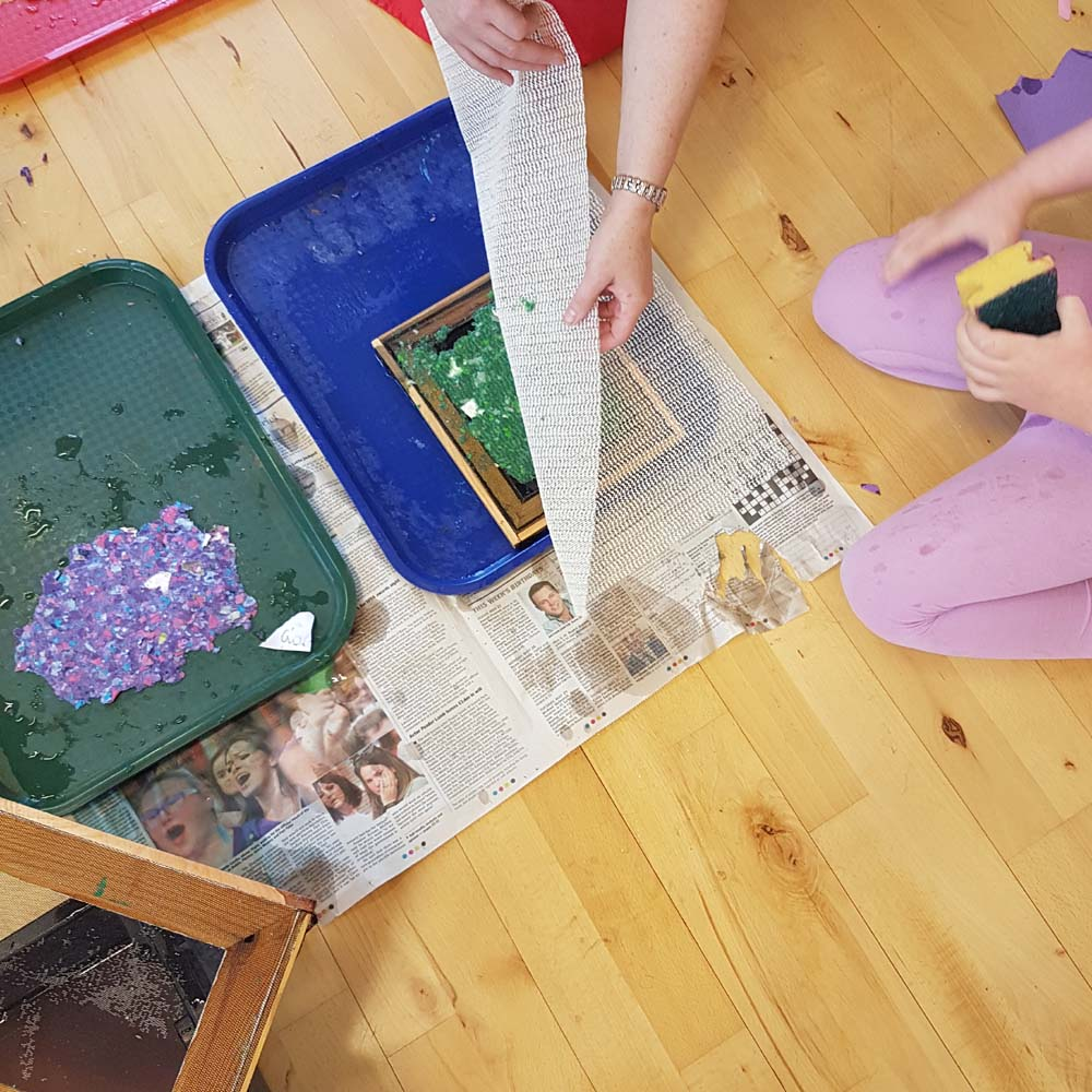 papermaking workshop for children in Maynooth