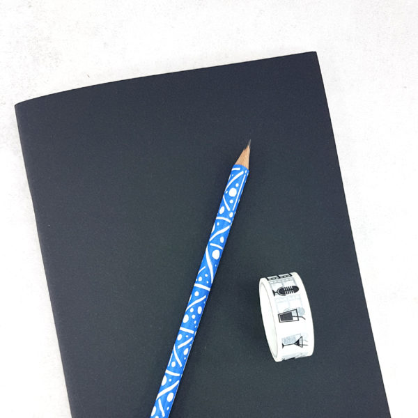 A5 notebook and HB pencil to draw with