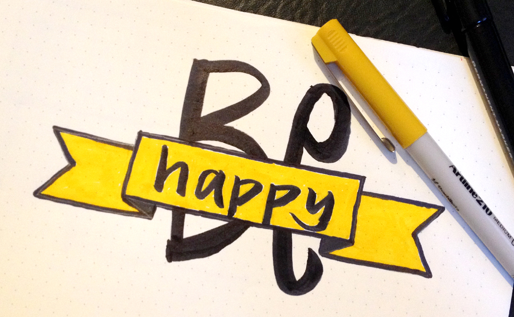 be happy learning lettering with the craft corner