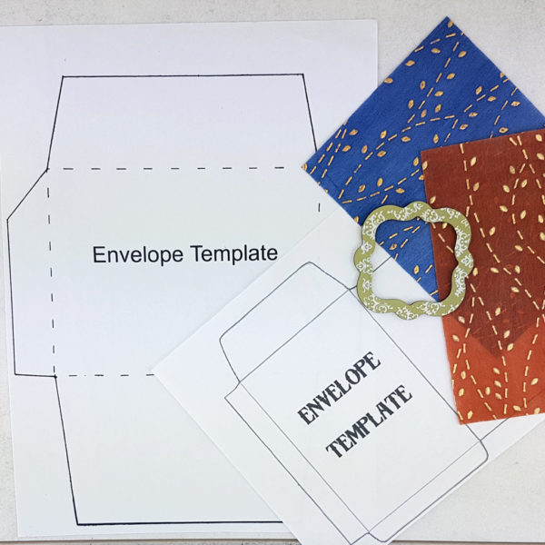 envelope templates and decorative papers for crafting with