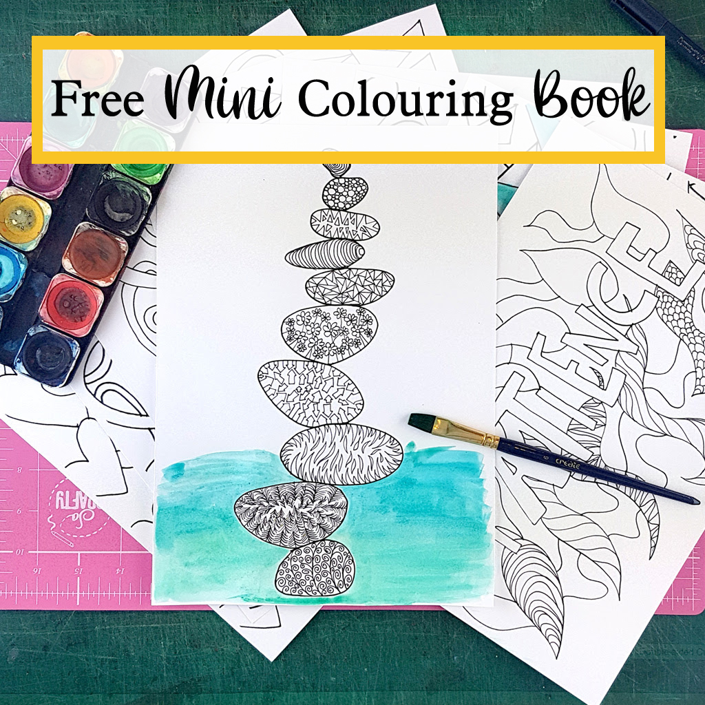 free mini colouring book from The Craft Corner