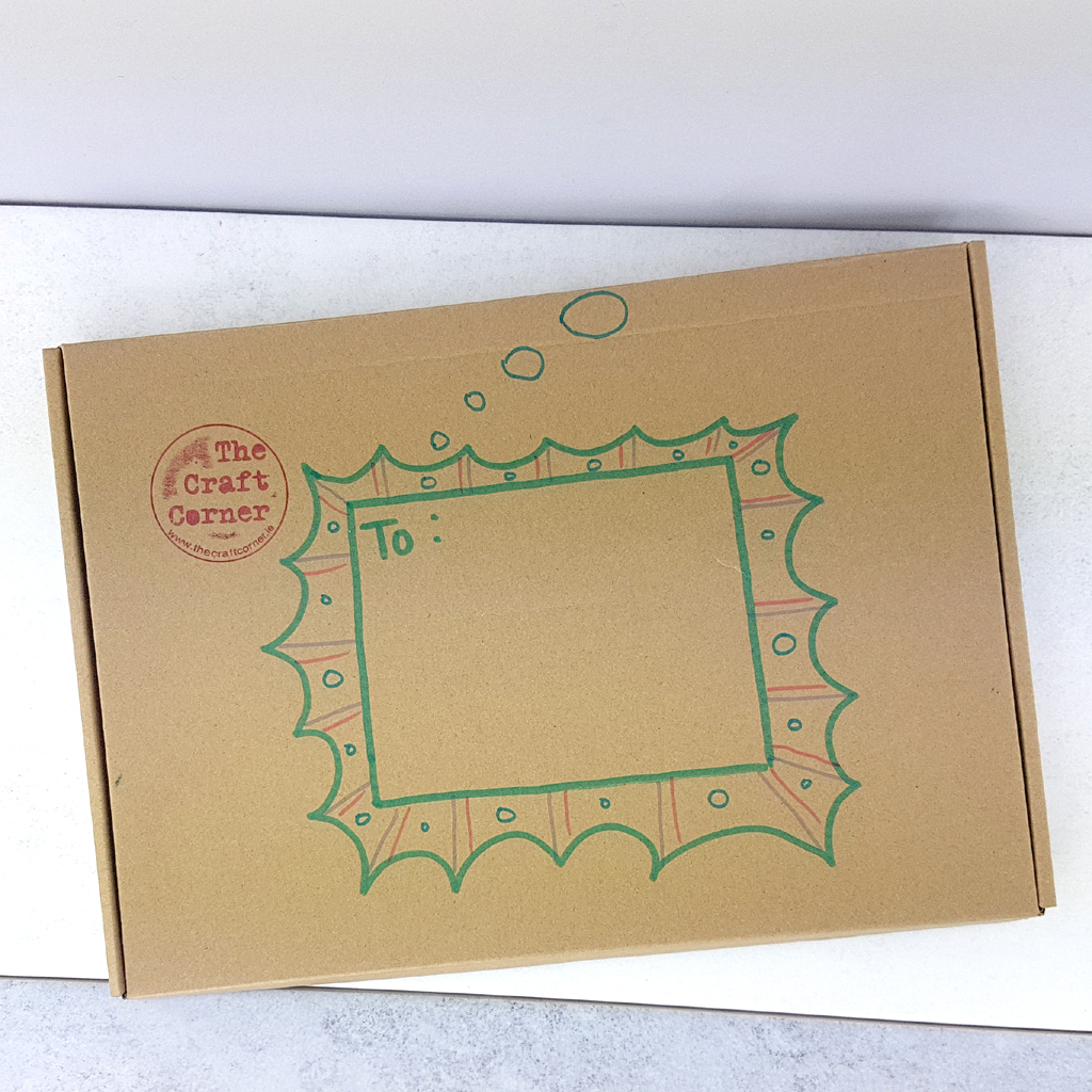 your arts and craft pack ready for the post office