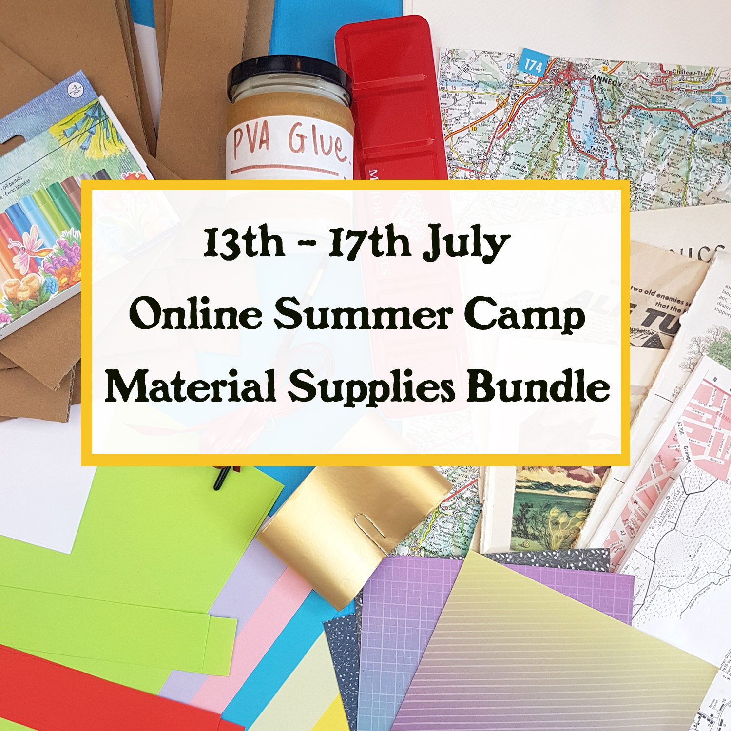 13th to 17th july online summer camp supply bundle