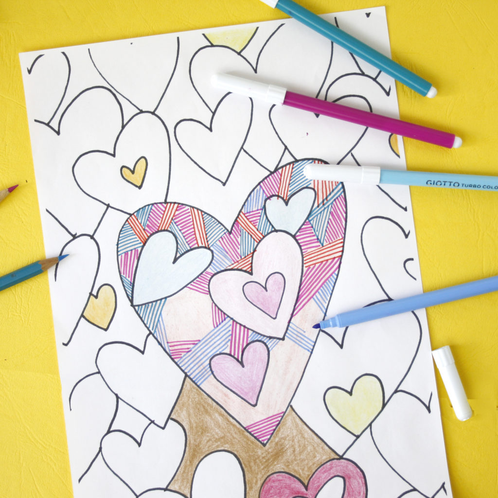 Big love is all around us colouring pages to print out
