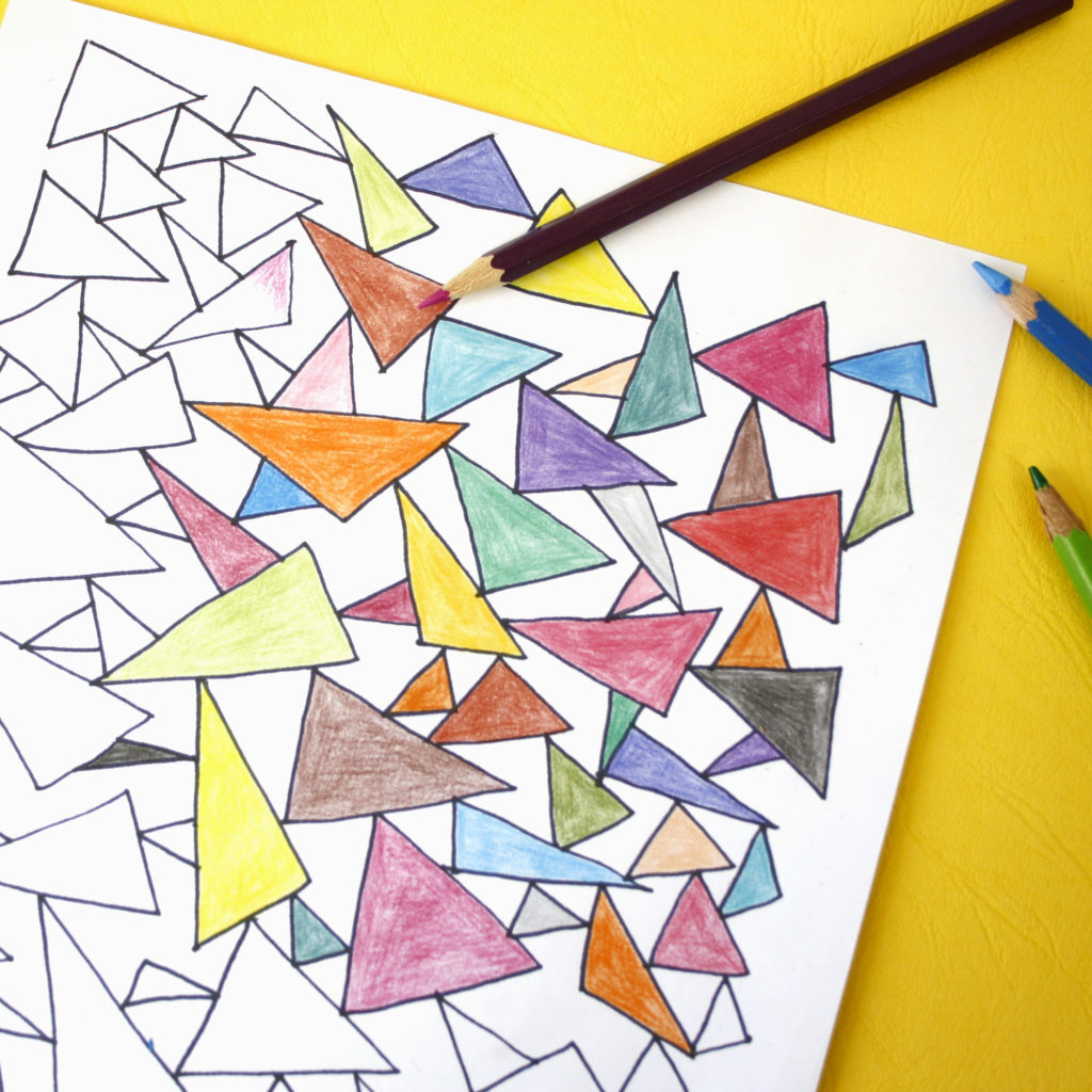 r epetitative pattern colouring sheets to relax by