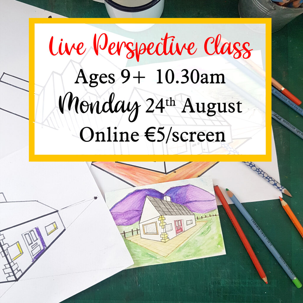 live perspective drawing class for ages 9 and up