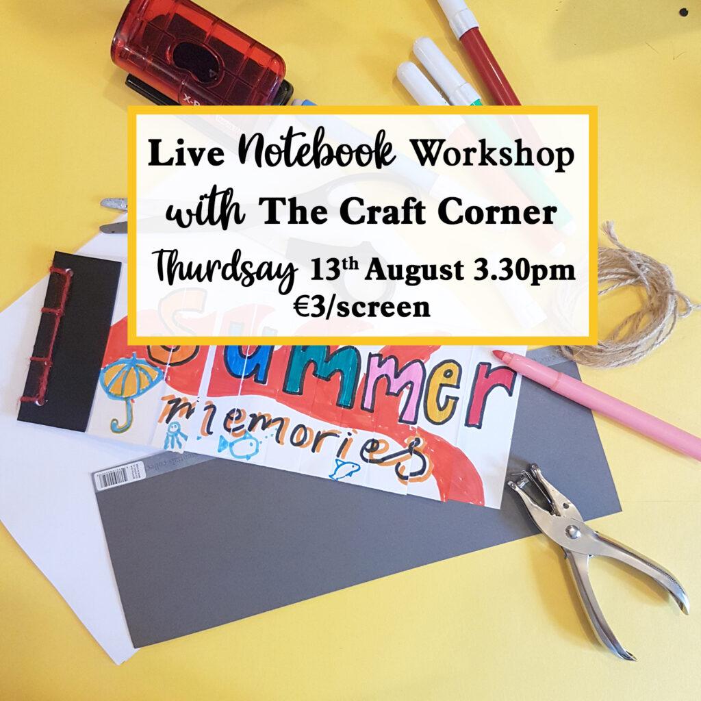 summer memories live notebook workshop with the craft corner
