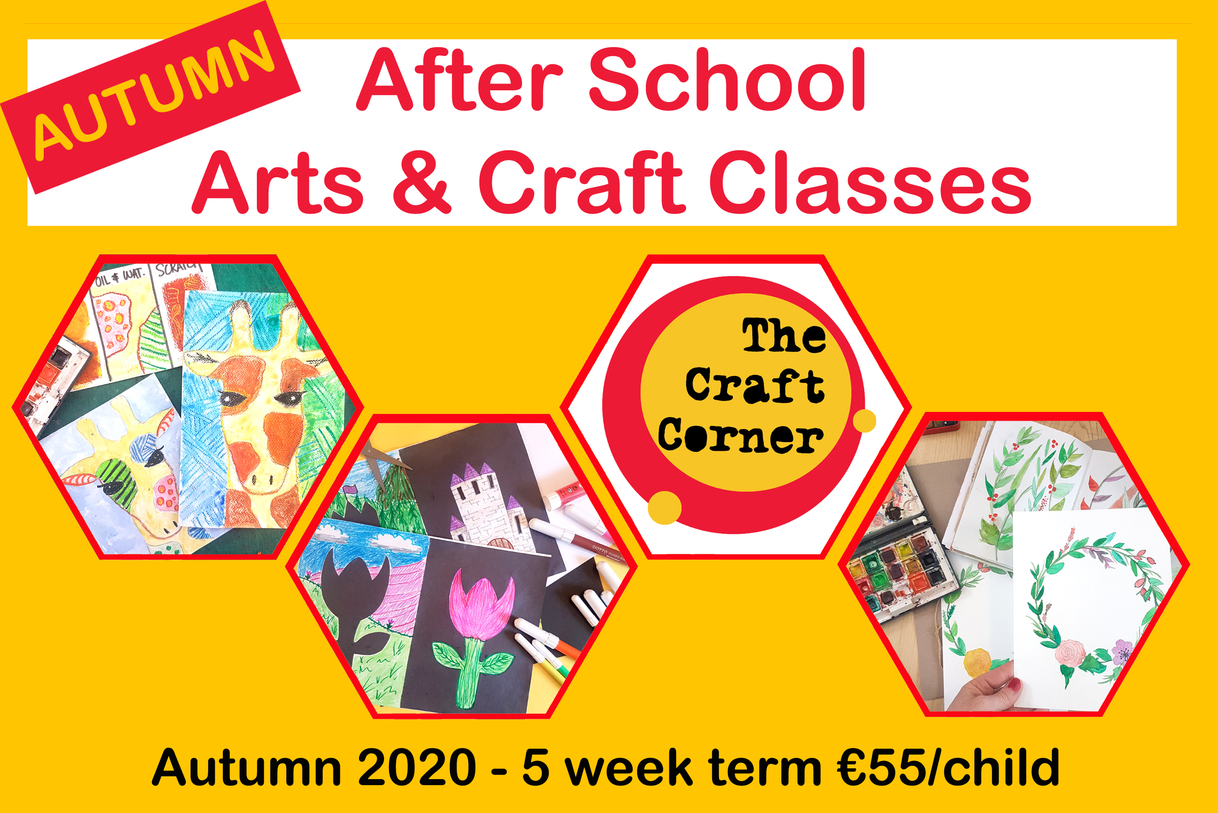 autumn 2020 after school arts and crafts classes